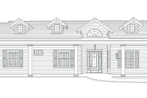 Custom Black Pencil House Drawing on