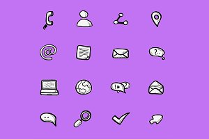 Icons collection of internet