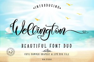 Wellington Font Duo + Extras