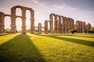 Miracles aqueduct in Merida (Spain)