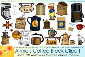 Annie's Coffee Break Clipart
