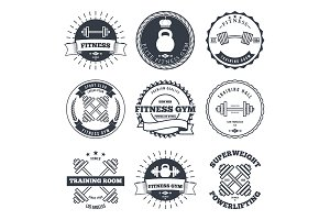 Bodybuilding and fitness gym logos