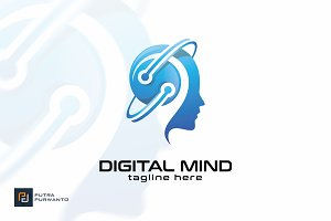 Digital Mind - Logo Template