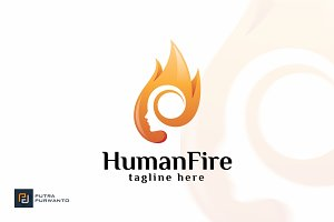 Human Fire - Logo Template