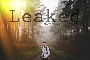 Leaked - Light Leak Photoshop Action