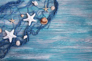 Fishing net with starfish
