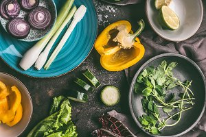 Preparation of Vegetarian cooking