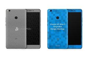 Xiaomi Mi Max 2 Vinyl Skin Mockup