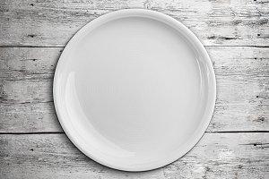 White empty plate