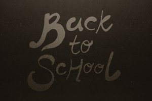 Image of back to school text