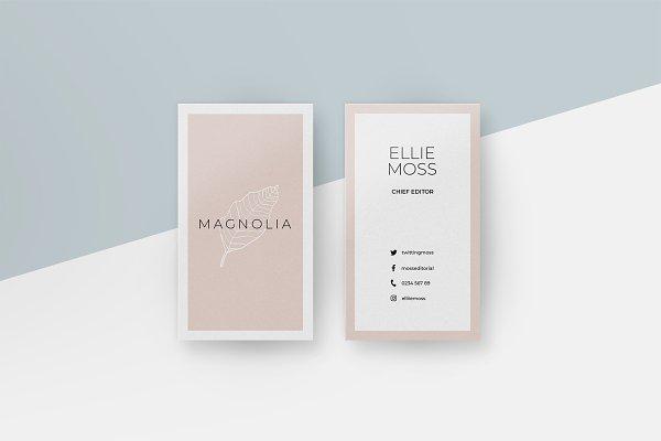 Magnolia Business Card Templates