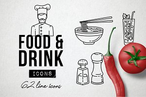 Drink and Food Icons Pack
