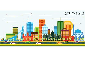 Abidjan Ivory Coast City Skyline