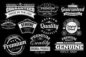 10 Retro Labels