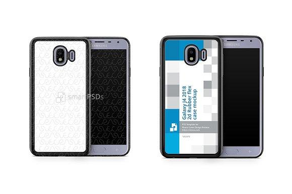 Galaxy J4 2d RubberFlex Mobile Case