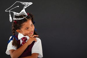 Image of graduation hat vector