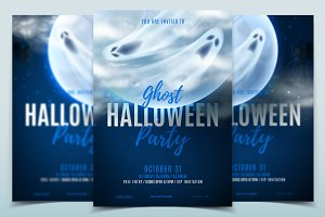 Halloween party posters