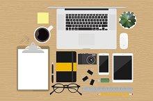 Custom Illustrated Office Mockup