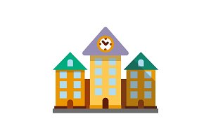 Town hall color icon