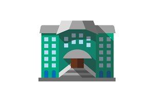 Hostel, hotel color icon