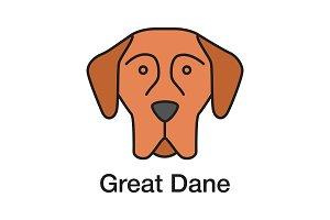 Great Dane color icon