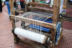 Medieval loom (rear view)