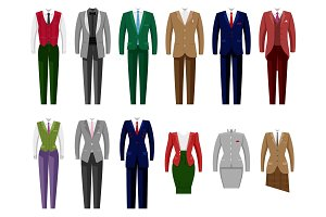 Business suit vector mail or female