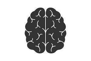 Human brain glyph icon