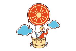 the girl in the orange baloon
