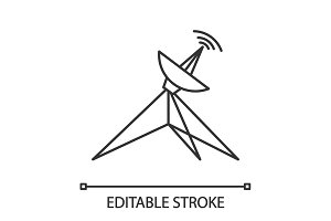 Satellite dish linear icon