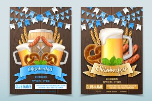 Oktoberfest party posters invite