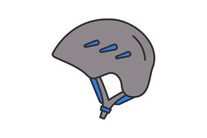 Ski and snowboard helmet color icon
