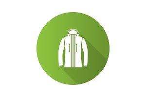 Ski jacket icon