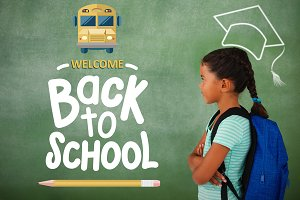 Composite image of back to school