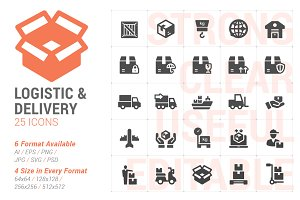 Logistic & Delivery Filled Icon