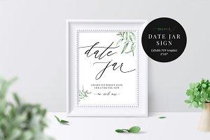 Date Jar Sign, Aurora