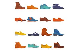 Man shoe vector male boots and