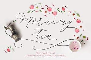 Morning tea. Script font. - 50%
