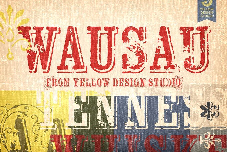 Wausau ~ Display Fonts ~ Creative Market