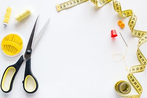 sewing accessories mockup