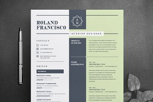 Two Page Resume / CV Template