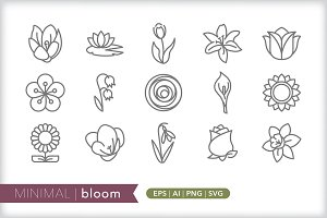 Minimal bloom icons