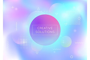Dynamic shape background with liquid