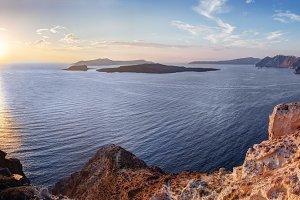 Santorini: view on Aegean Sea