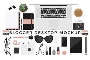 Blogger Desktop Mockup