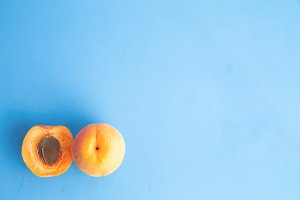 apricots in colorful background