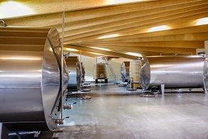 Metal and wooden barrels to ferment