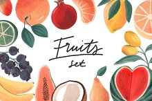 Fruits Acrylic/Gouache Set