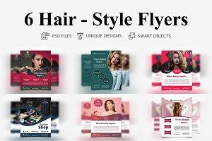6 Hair - Style Flyers
