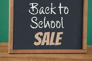 back to school sale text